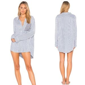 Plush Chambray Ultra Soft Boyfriend Sleep Shirt